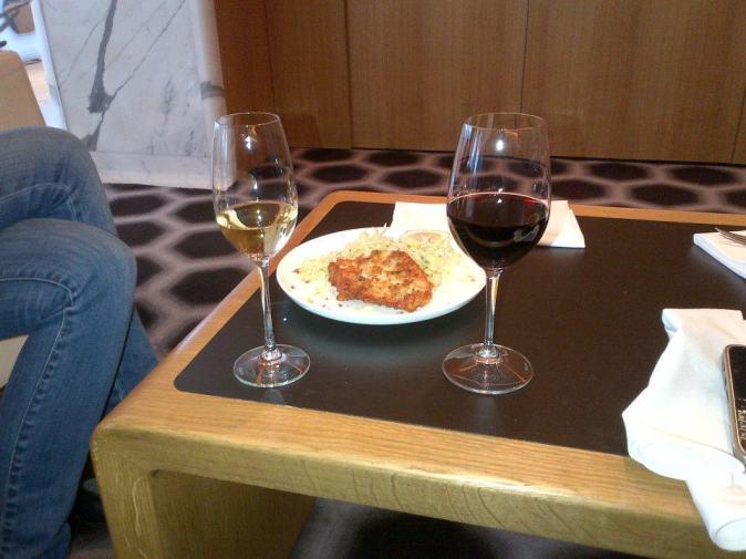 Bannockburn free range chicken schnitzel with Italian coleslaw and aioli
