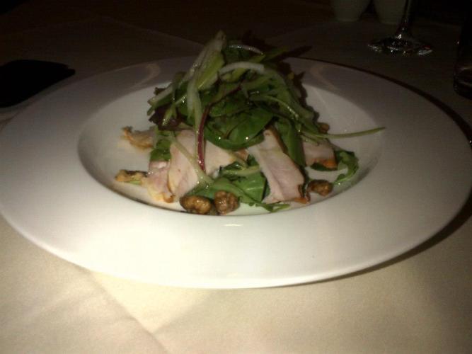 Smoked Chicken with Apple & Walnut Salad