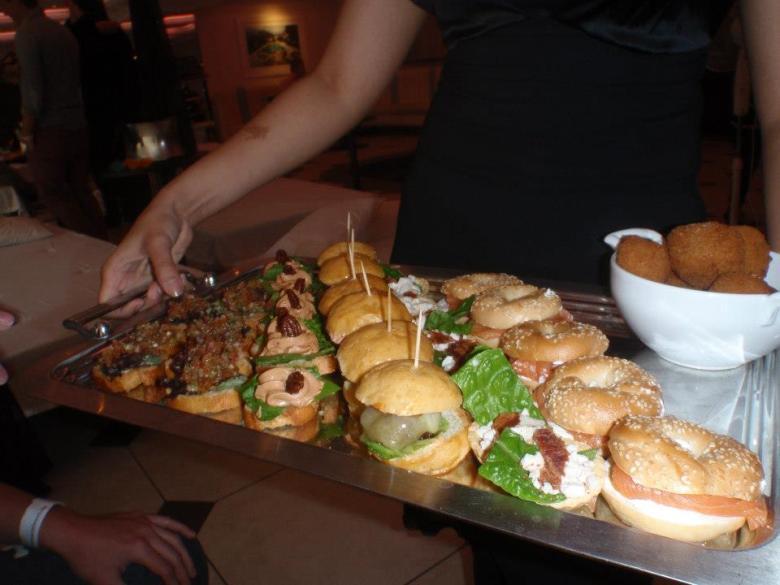 The Brunch Canapes - Bruschetta, Pate, Burgers, Caesar tarts, Salmon Bagels and Mushoom Arancini Balls
