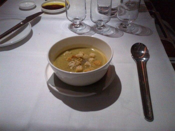 Zucchini, Basil and Parmesan Soup